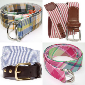 Coastal Preppy fabrics in belts