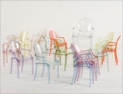 Clear Transparent Ghost chairs
