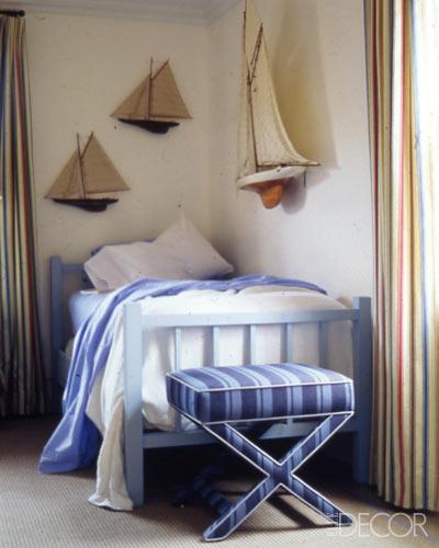 elle decor coastal preppy room hues cues