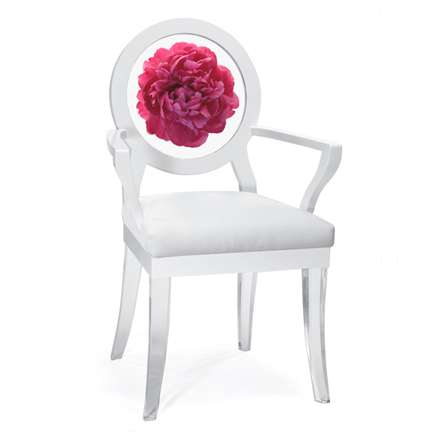Peony Ghost Chair by Floral Art L.A.