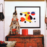 Navajo influenced decor vignette