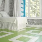 green painted floor