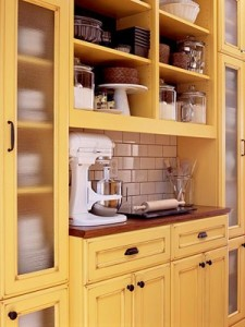 Yellow kitchen cabinets hues cues for Capital one kitchen cabinets