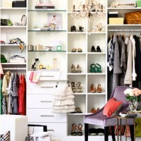 White closet with shelving