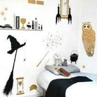 Harry Potter magic inspired bedroom