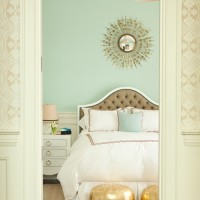 sunburst mirror in bedroom