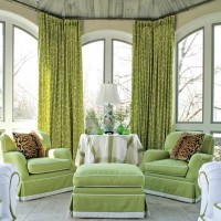 Fresh green living room