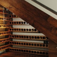 wine cellar storage underneath staircase