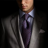 Sexy grey men's suit