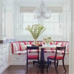 Red Striped Banquette