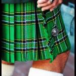 green plaid kilt