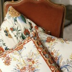 Folkloric print fabric pillows