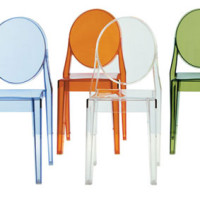 Colorful ghost chairs