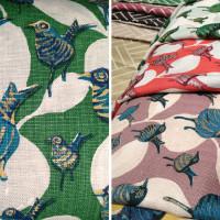 Bird print textile