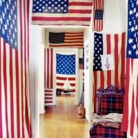 American flags